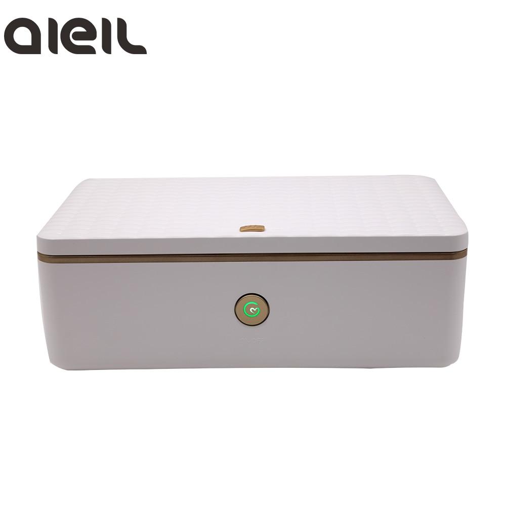 LED USB Mini Portable UV Sterilizer For Nail Tools Makeup Brush Toothbrush Disinfection Cabinet Nail Sterilizer Box Nail Art