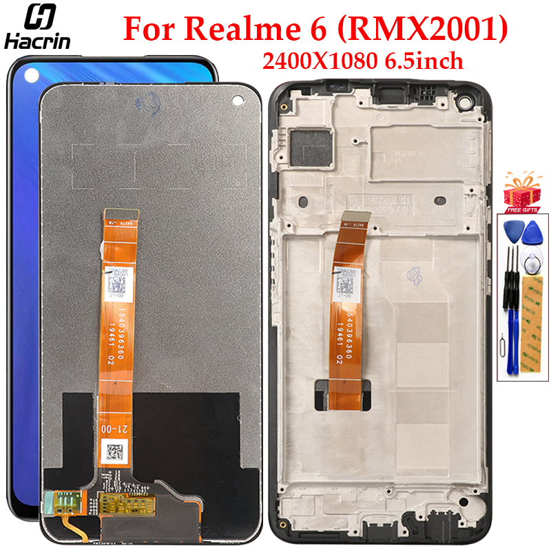 E-yiiviil LCD Display Compatible with Realme 6 RMX2001 6.5 LCD ...