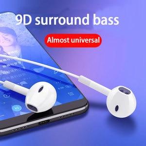 Image 5 - Langsdom Auriculares deportivos E6U con cable, auriculares intrauditivos portátiles estéreo con Supergraves, para videojuegos, música, micrófonos
