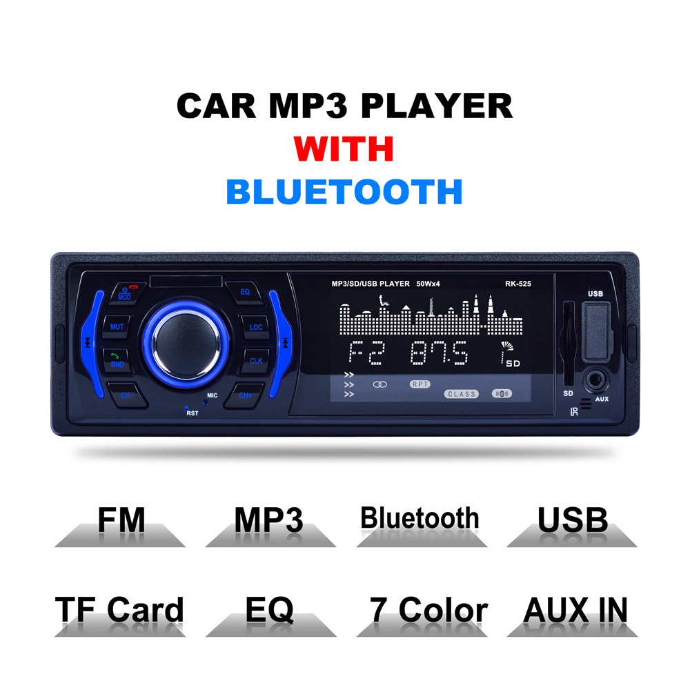 New <font><b>1</b></font> <font><b>Din</b></font> 12V Automobiles <font><b>MP3</b></font> <font><b>Players</b></font> USB/<font><b>SD</b></font>/FM <font><b>Radio</b></font> <font><b>Player</b></font> <font><b>Car</b></font> <font><b>Mp3</b></font> <font><b>Player</b></font> <font><b>Autoradio</b></font> with <font><b>Bluetooth</b></font> USB/<font><b>SD</b></font> AUX-In Dropshipping image