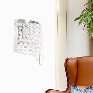 Image 4 - מודרני קריסטל מנורת קיר כרום פמוט קיר אור רחצה סלון בית מקורה תאורת קישוט הנורה לא כלול