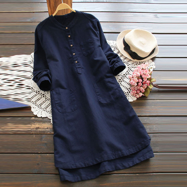 Nice  casual long Shirt dress, goes with anything 5