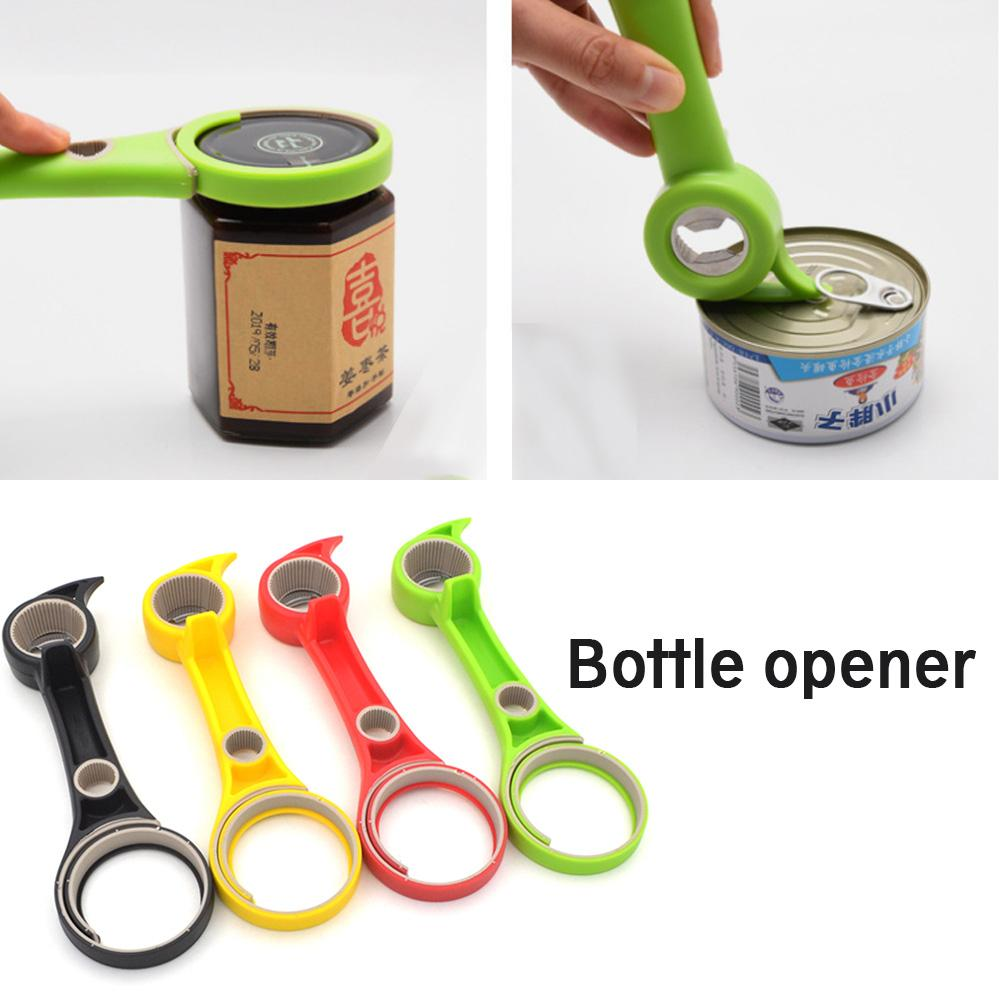 New 1Pcs 6-in-1 Multi-Function Bottle Opener Can Jar Remover Kitchen Tool Lid Seal Remover Kitchen  Manual Gadgets