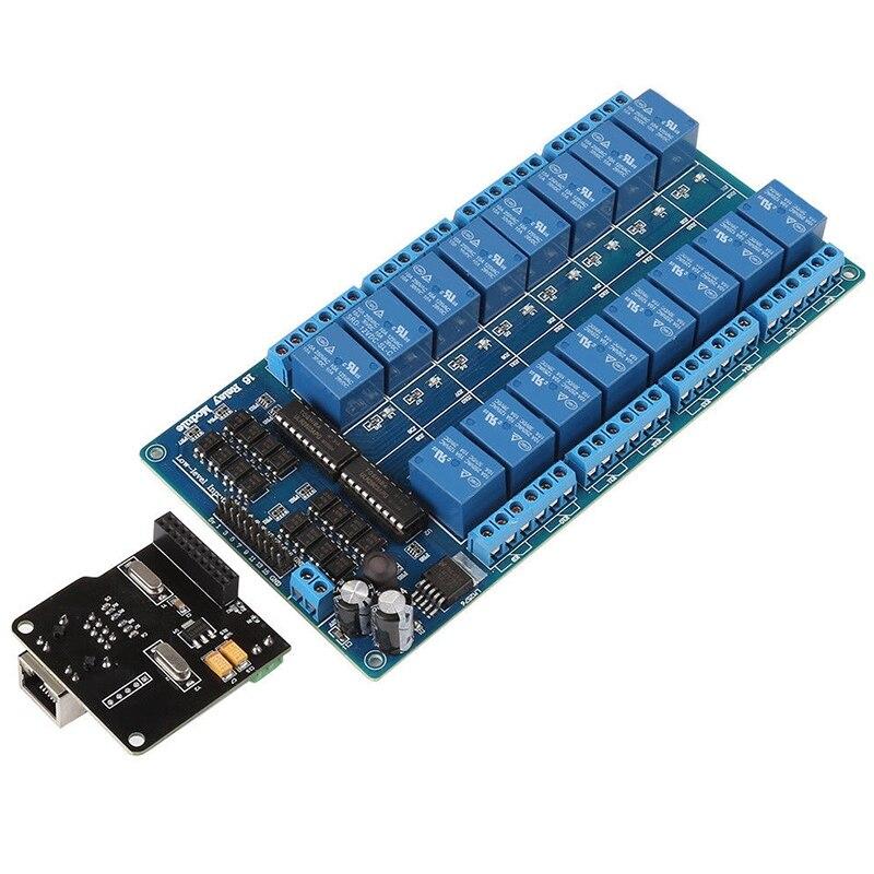 ABSF Ethernet модуль управления Lan Wan сетевой веб-сервер RJ45 порт 16 канальный релейный Ethernet контроллер платы. RJ45 интерфейс