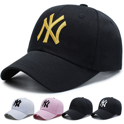 New Men's And Women's Outdoor MY Embroidery Baseball Cap Sun Proof Letter Cap For Lovers In Autumn And Winter