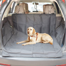 HotPet Pad Car Seated Dog Mat Pads Pet Mat Printed Paws Black Waterproof Oxford Cloth Mat Dog Seat Cover SUV Car Trunk New Top(China)