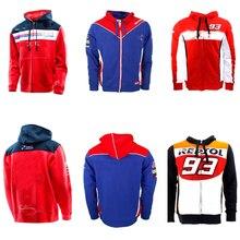 Толстовка на молнии с капюшоном, гоночная куртка, костюм, мотоциклетный свитер для езды, пальто, хлопок, MOTO GP для Honda HRC Racing, на молнии, с капюшоном, Новинка