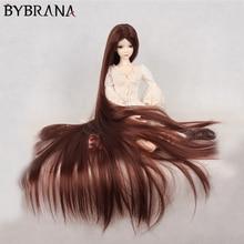 Bybrana 70cm BJD Wig For 1/3 1/4 1/6 1/8 High Temperature Fiber Girl Multi Color Very Long Hair For Dolls