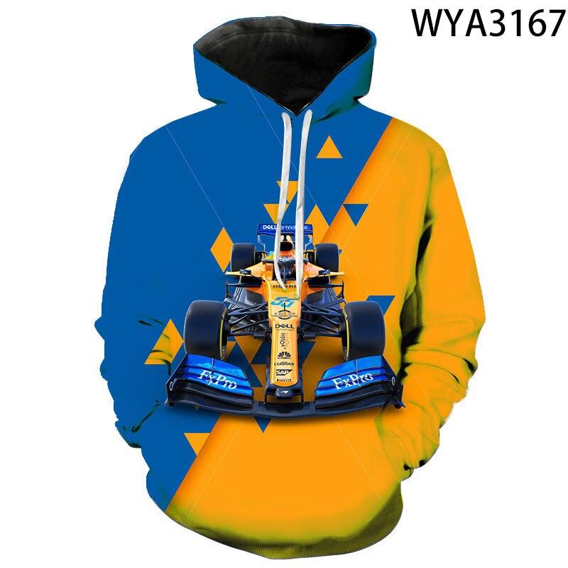 Men Women Children Formula 1 Fashion Casual Hoodies 3D Printed Sweatshirts Hooded Boy Girl Kids Streetwear Pullover Coat