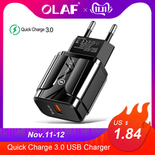 US $2.83 |3A Quick Charge 3.0 USB Charger EU Wall Mobile Phone Charger Adapter for iPhone X MAX 7 8 QC3.0 Fast Charging for Samsung Xiaomi-in Mobile Phone Chargers from Cellphones & Telecommunications on AliExpress - 11.11_Double 11_Singles' Day