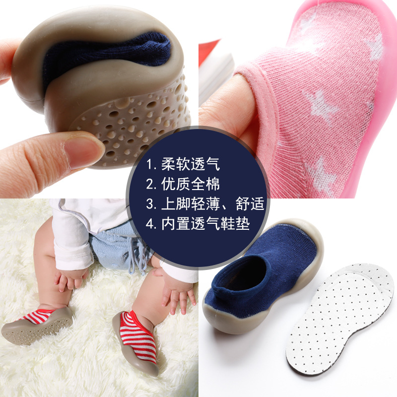 Spring And Summer New Style Children Soft-Sole Floor Socks Ankle Sock 0-1-3-Year-Old Breathable Anti-slip Mian Bao Socks Xue Ayu