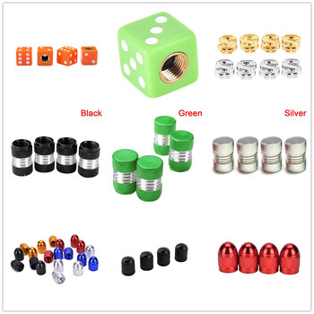 4 Pcs Universal Auto Bicycle Car Tire Valve Caps Tyre Wheel Ventile Air Stems Cover Airtight Rims Accessories image