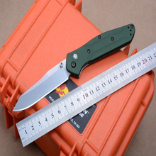 High quality 940 Folding Knife S30V Blade knifes GREEN aluminum handle knife Camping knife Tactical Hunting Survival Knives