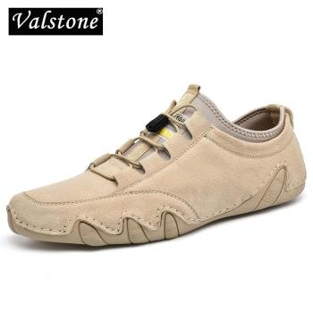Valstone Quality Leather Men Loafers Casual Light Flats Driving Shoes For Mans Outdoor Classic Octopus Moccasins Plus Size 38-46