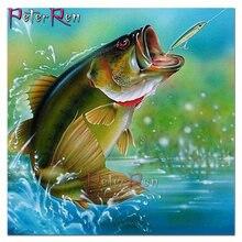 Алмазная картина большая рыба узор diy мозаика Вышивка крестом