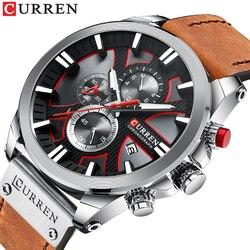 Relogio masculino CURREN Moda Criativa Relógio De Quartzo Data Homens Relógios Business Casual Relógio de Pulso Masculino Relógio Montre Homme