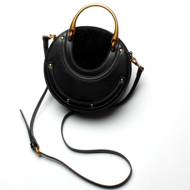 Роскошные дизайнерские женские сумки из натуральной кожи, металлическая маленькая круглая сумка, женские сумочки, клатч, женская сумка через плечо