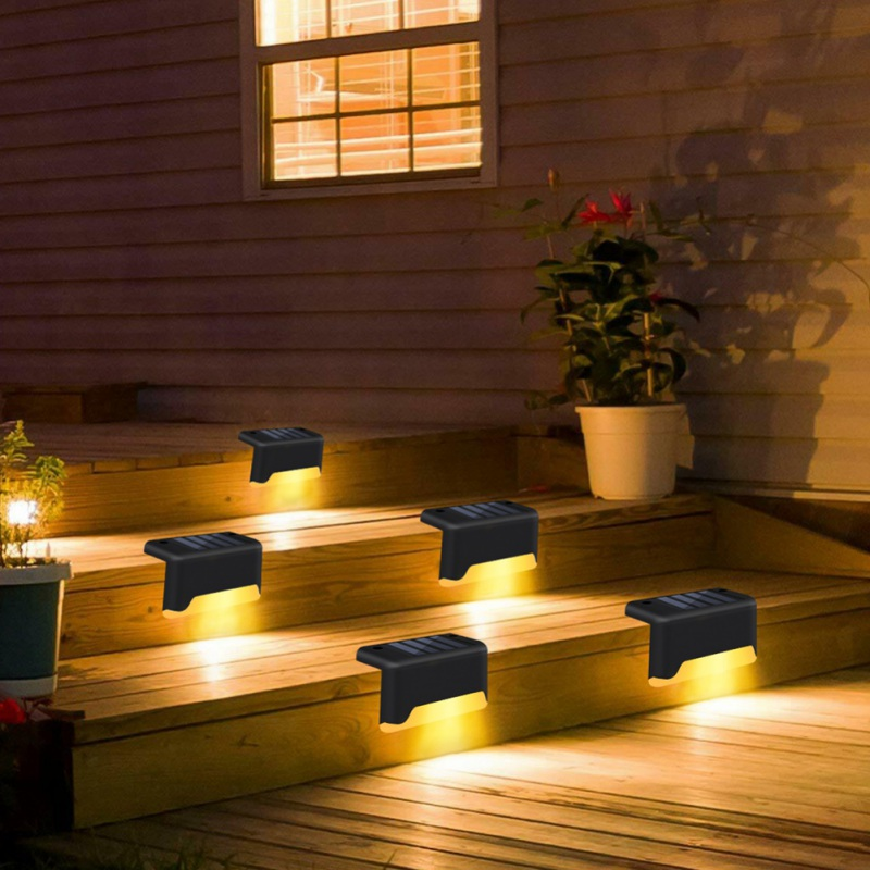 LED Solar Power Light Control Wall Light 6Pcs Outdoor Waterproof Energy Saving Street Yard Path Home Garden Security Lamp