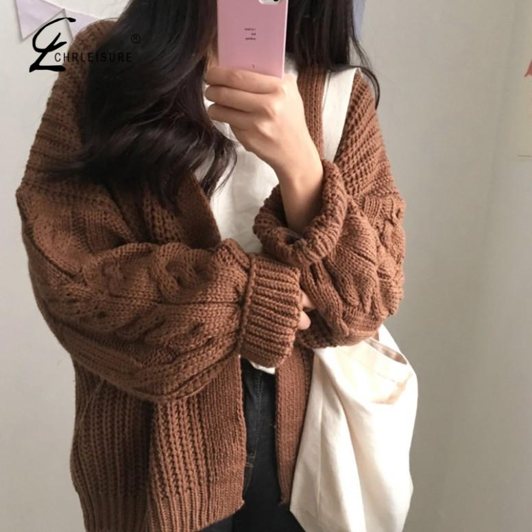 Women Open Front Cardigan Sweaters Winter Women Sweater Knitted Long Sleeve Knitwear Girls Casual Outerwear Femme Top