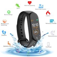 新しいM4スマートリストバンドフィットネストラッカースマート腕時計スポーツ心拍数血液圧力モニタースマートためのsmartband