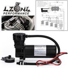 LZONE   Universal DC 12V 480c MAXPOWER 200 PSI OUTLET 1/4 car Air Suspension Compressor/ Pump JR VAC01 14