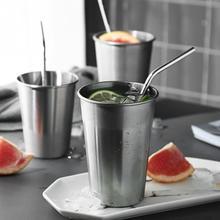 Стаканы объемом в одну пинту из нержавеющей стали, кружки, стакан, металлическая чашка, небьющиеся стакаемые чашки, сок, пиво кофе, вода, чай 30 мл/70 мл/180 мл/320 мл