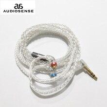 Audiosense 8ストランド19コア銀は銅ケーブル3.5ミリメートルmmcxコネクタためT180 T260 T300 T800