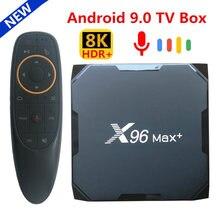ТВ-приставка X96 MAX Plus на Android 2021 с четырехъядерным процессором Amlogic S905X3, 4 ГБ, 64 ГБ, 32 ГБ, 8K, двойным Wi-Fi, 4K, X96Max + медиаплеер, 2 ГБ, 16 ГБ, 9,0