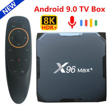 Original X96 MAX Plus Android 9.0 TV BOX Amlogic S905X3 Quad Core 4GB 64GB 32GB 8K Wifi 4K X96Max + lecteur multimédia intelligent 2GB 16GB(China)