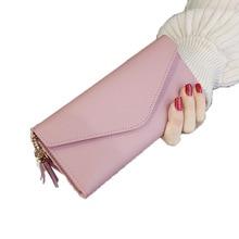 цена на Card Holder Purse Wallet Women Long ladies wallet new heart pendant simple multi-function ladies purse high quality PU pocket