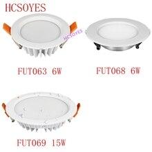 Milight FUT063 FUT068 6W/FUT069 15W LED typu Downlight AC100 240V ściemniania RGB + wtc wpuszczane Led panel oświetleniowy wodoodporna AC110V 220V