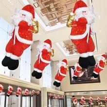 Рождественское украшение Санта Клаус скалолазание на веревочке настенное окно Висячие Рождественские Новогодние декорации smerry рождественские украшения# O17