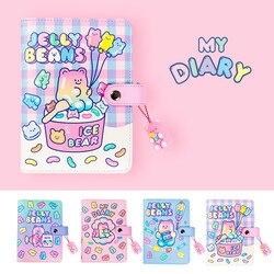 Cute A6  Journal Binder Notebook Spiral Diary Agenda Planner Organizer Scrapbooking Notepad Kawaii School Stationery