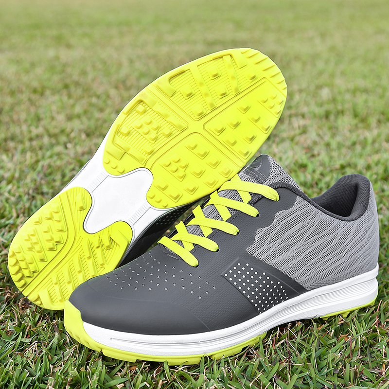 2019 New Waterproof Men Golf Shoes Big Size 39-46 Outdoor Training Sneakers Men Mesh Breathable Black Gray Golf Sport Shoes Man