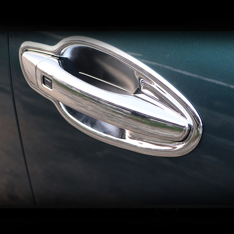Front + Rear Car Outer <font><b>Door</b></font> <font><b>Handle</b></font> Catch Cover trim Cap <font><b>Door</b></font> Bowl Protection Sticker for <font><b>Peugeot</b></font> 3008 GT 3008GT 2017 2018 2019 image