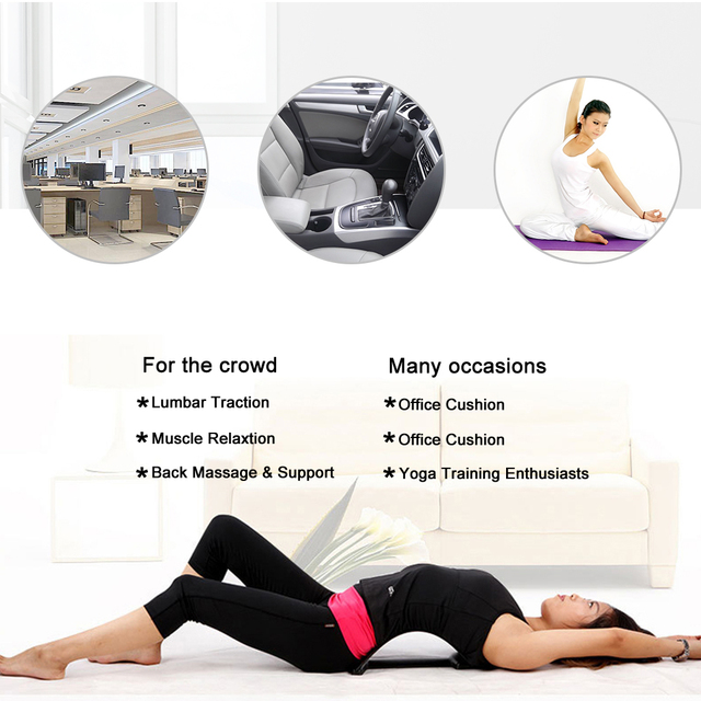 Back Massager Stretcher Fitness Lumbar Traction Stretch Relax Stretcher Waist Support Spine Pain Relief ChiropracticDropshiping 5