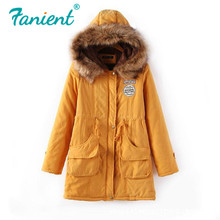 Women Winter Warm Coat Female Autumn Hooded Cotton Fur Plus Size Basic Jacket Ou