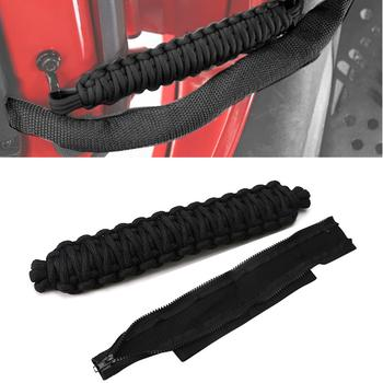 Car Door Restriction Limit Rope Strap For Jeep Wrangler JK 2007-2017 Adjustable Door Check Strap Limiting Hinge Rope Protect image