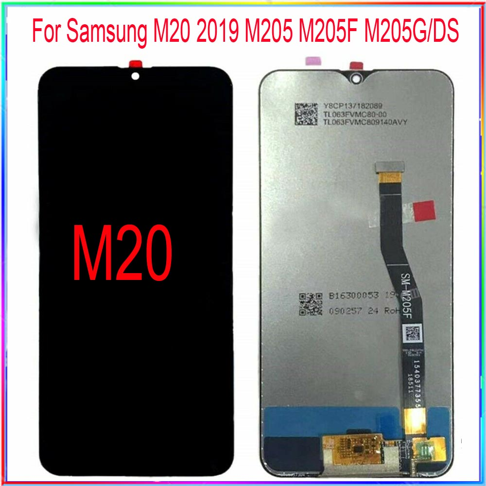 For Samsung M20 Lcd 2019 M205 M205F M205G/DS LCD Screen Display With Touch Digitizer Assembly