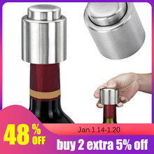 1Pc Stainless Steel Vacuum Wine Bottle Stopper Sealed Storage High Quality Plug Liquor Flow Stopper Pour Cap(China)