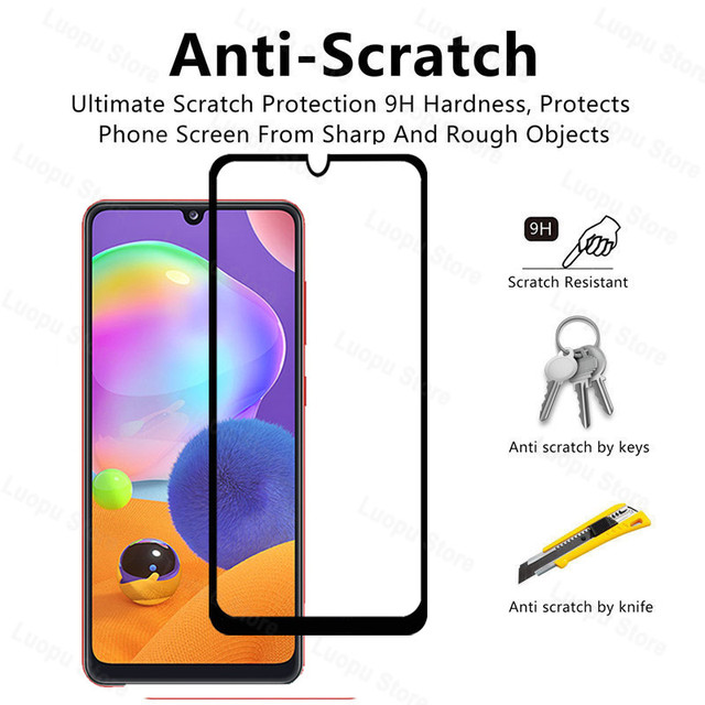 tempered glass for samsung galaxy a21 a31 a41 a21s a 31 a12 a42 a02 glass camera lens screen protector for sasmung a31 a41 a42 5