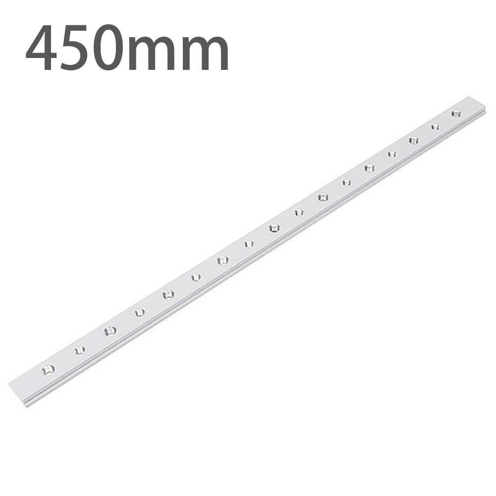 450mm T Track Slot Sliding Slab Slide Block Thread 8xM6+9xM8 Aluminium Material For T-Slot T-Track Woodworking Tool Accessories