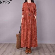 Nyfs 2021 nova primavera outono do vintage pequeno floral manga longa vestido mulher vestido de mujer robe vestidos elbise para mulher