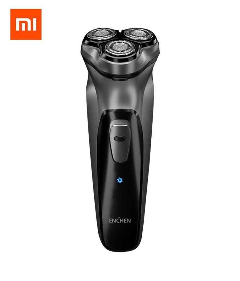 Xiaomi Enchen BlackStone Rechargeable Electric Shaver 3D Triple Floating Blade Heads Shaving Razors Men Beard Trimmer Mach
