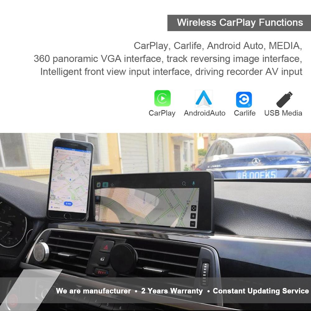 Wireless Apple CarPlay Android Auto Retrofit for BMW 1 2 3 4 5 6 7  X1 X3 X4 X5 X6 Z4 I3 I8 M3 M4 M5 M6 Mirroring OEM Microphone