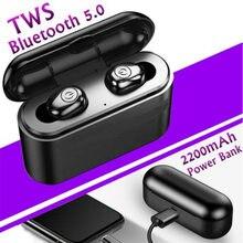 Tws x8 verdadeiro bluetooth fones de ouvido sem fio 5d estéreo mini tws à prova dheadágua headfrees 2200mah power bank fone ouvido