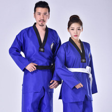 3 Colors Taekwondo Uniform Clothes Kids Adult Student Martial Arts Red Suits Tae Kwon Do Dobok Approve Black V-Neck Clothing WTF taishan wtf poomsae dan dobok male female taekwondo suits authentic designated taishan tkd poomsae fabrics uniforms have dan