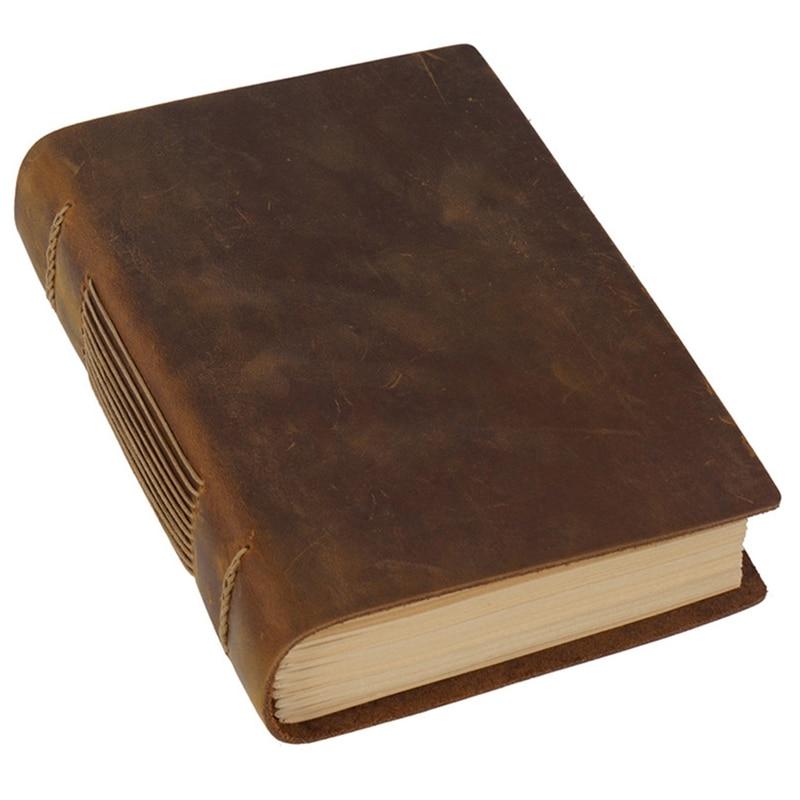 Ретро Блокнот ручной работы эскиз ретро кожаный блокнот Эко Бумага Креативный блокнот-1 шт