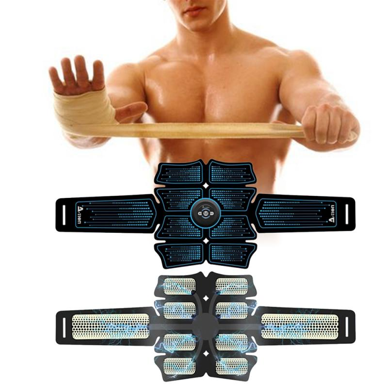EMS Abdominal Belt Electrostimulation ABS Muscle Stimulator Hip Muscular Trainer Toner Home Gym Fitness Equipment Women Men 7