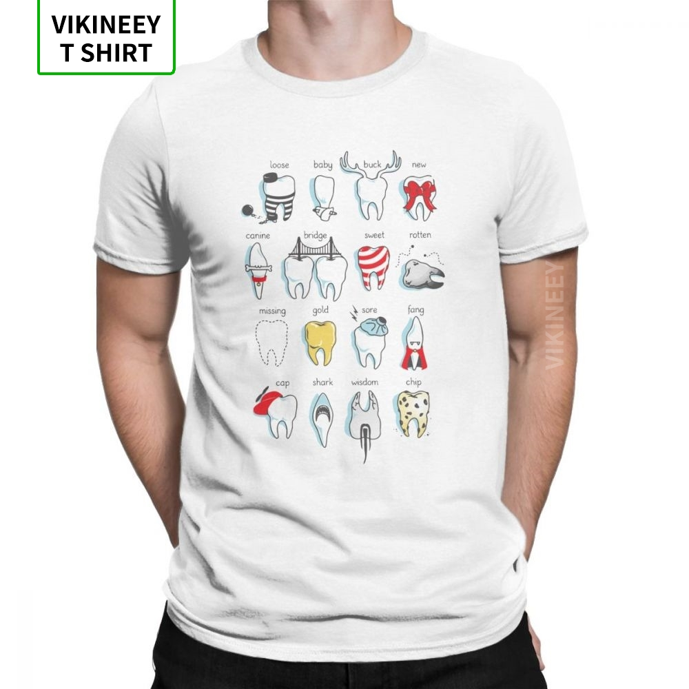 Dental Definitions T Shirt For Men Teeth Dentist Funny Tops Short Sleeve Superior T-Shirt Crew Neck 100% Cotton Tees Plus Size
